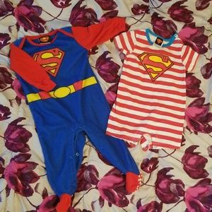 Pair of GUC Superman onesies size 3-6 months